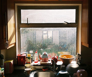 vintage, kitchen, and window image