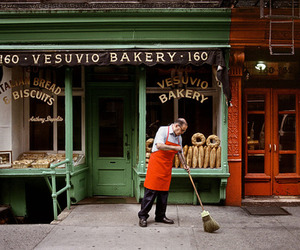 bakery, street, and vintage image