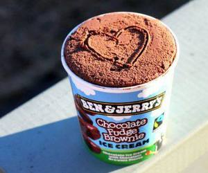 ice cream, chocolate, and heart image