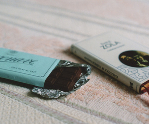 book and chocolate image