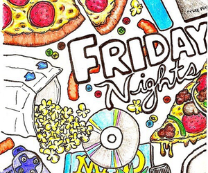 friday, night, and pizza image