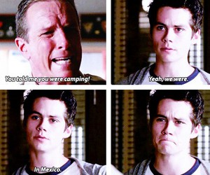 teen wolf, camping, and funny image