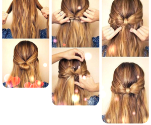 bow, casual, and hairstyle image