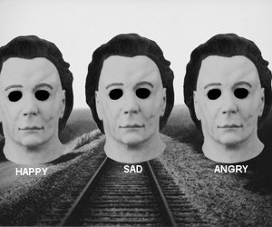 black and white, michael myers, and b&w image