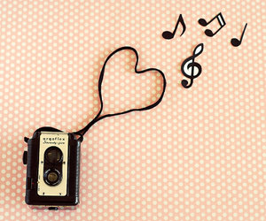 pink, vintage, and music image