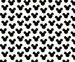 black&white, mickey, and love image