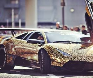 luxury, car, and gold image