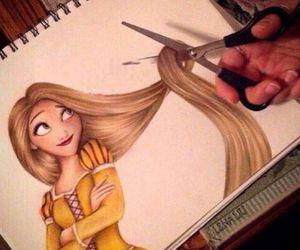 art, drawing, and tangled image