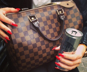 nails, bag, and red image