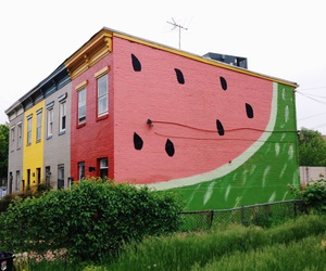 house and watermelon image