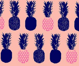 background, pineapple, and pink image