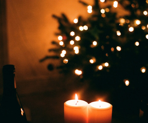 candles, christmas, and light image