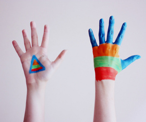 hands, colors, and paint image