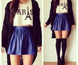 paris, fashion, and skirt image