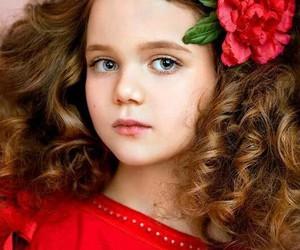 beautiful, beautiful girl, and flowers image