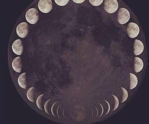 moon, night, and black image