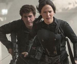 mockingjay, the hunger games, and gale image