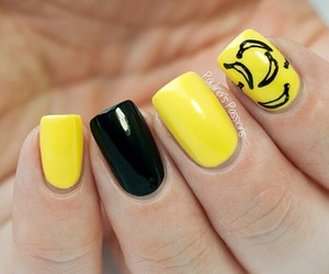 nails, banana, and black image