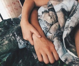 bed, boy, and hugs image