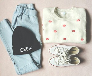 fashion, outfit, and geek image