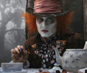 alice in wonderland, johnny depp, and alice image