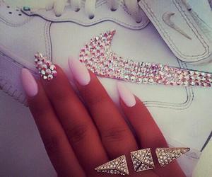 nails, nike, and fashion image