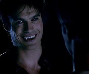 vampire, damon, and tvd image