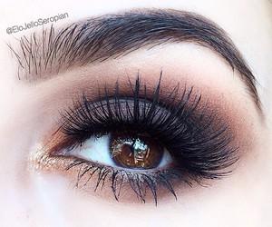 beauty, brown eyes, and eye makeup image