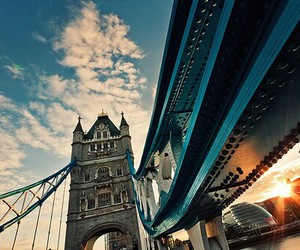 london, bridge, and city image