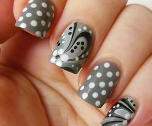 nails, grey, and art image