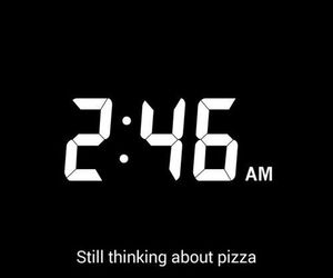 night, pizza, and snapchat image