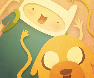 JAKe, adventure time, and finn image