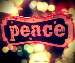 peace and merry christmas image