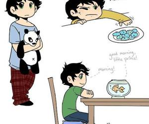 percy jackson, book, and fish image
