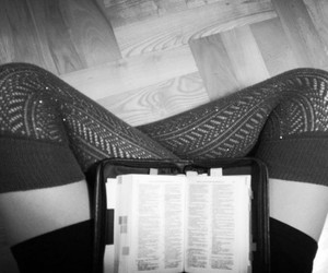 bible, black and white, and reading image