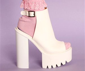 shoes, white, and pink image
