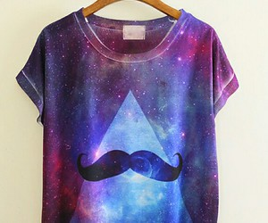 galaxy, moustache, and mustache image