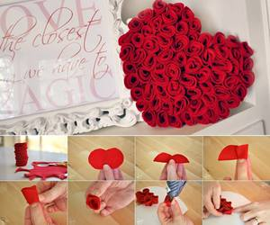 diy, rose, and red image
