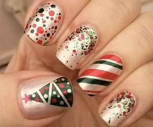 christmas, nails, and green image