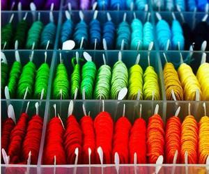 beautiful, colors, and yarn image