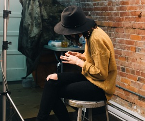 style, outfit, and sweater image