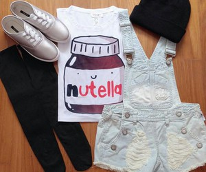 nutella, outfit, and fashion image