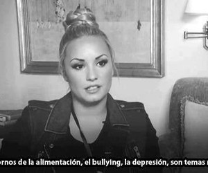 demi lovato, depression, and bullying image