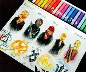 draw, harry potter, and katniss everdeen image