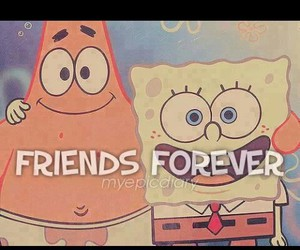 friends, friendship, and spongebob image