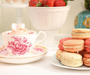 macaroons, food, and tea image