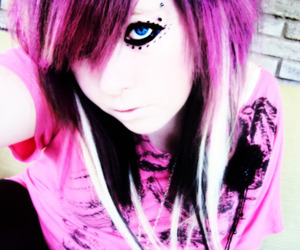 awesome, emo, and pink image