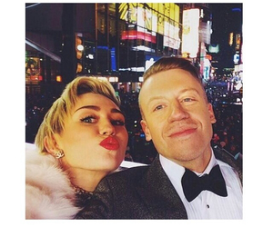 macklemore, miley cyrus, and miley image