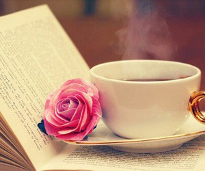 book, coffee, and we ♥ it image