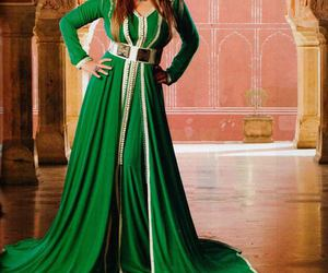 caftan, green, and elegance image